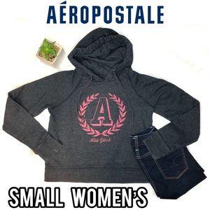 Aeropostale long sleeve cropped hoodie